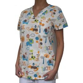 Pracovná košeľa - VZOR - džungľa