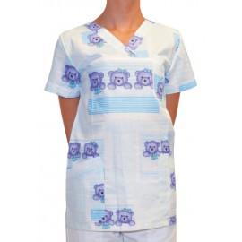 Pracovná košeľa - VZOR - modrý macko 1
