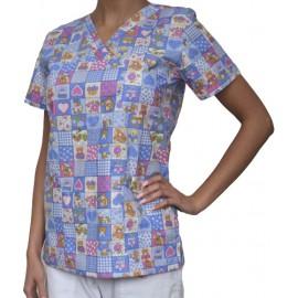 Pracovná košeľa - VZOR - farebný macko