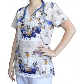 Pracovná košeľa - VZOR - piráti