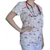 Pracovná košeľa - VZOR - ružový oslík