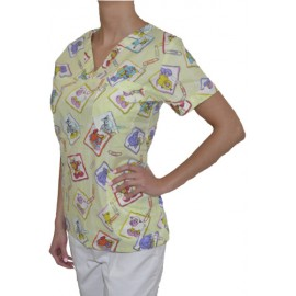 Pracovná košeľa - VZOR - zvieratká MIX